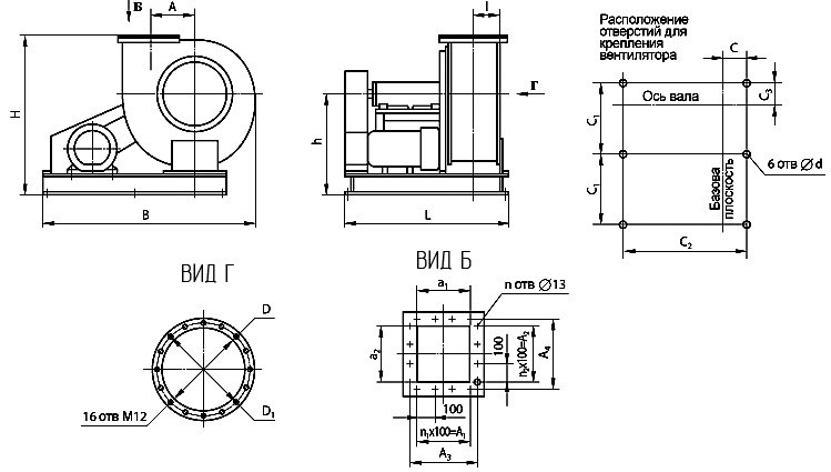 Вентилятор пылевой ВЦП 6-45 центробежный