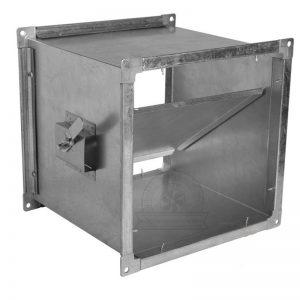 Дроссель клапан прямоугольного сечения с ручным управлением купить недорого доставка качество