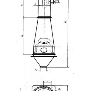 Циклон ЦМ с бунтером чертеж Промтехкомплект