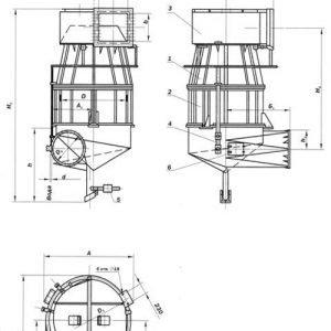 Скоростные промыватели схема чертеж Промтехкомплект
