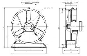 Вентилятор осевой ВО-06-300